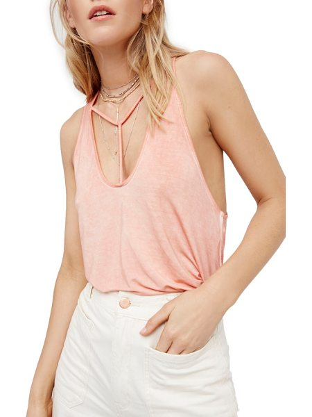 Free People amelia tank in peach - Perfectly slinky and a little sporty, this stretch-knit...