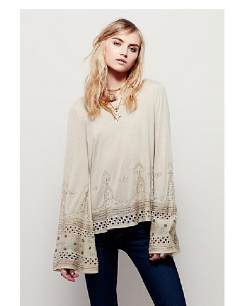 Free People Aphrodite top in almond - Cropped to the natural waist this beautifully...