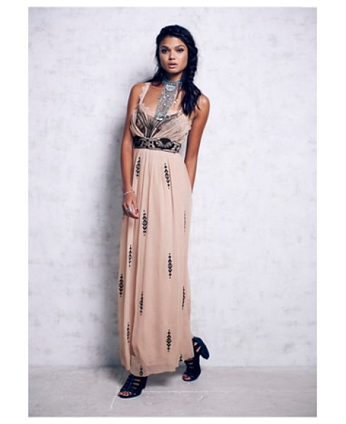 "Free People Artemis maxi in petal pink - ""Chiffon maxi dress with gorgeous mesh sequin and..."