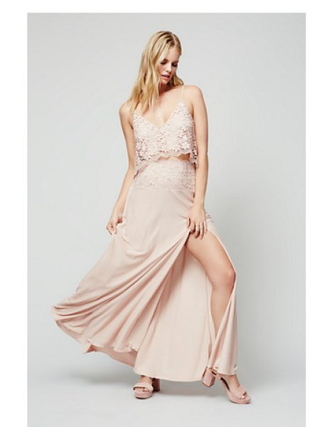Free People Better together dress in blush - Beautiful set featuring crochet lace crop top with...