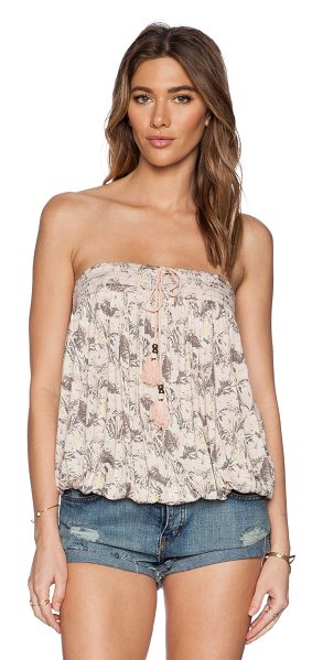 Free People Bodega tube top in pink - 85% rayon 15% linen. Hand wash cold. Removable shoulder...