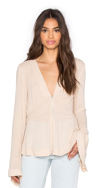 FREE PEOPLE Boho Sleeve Blouse - 100% rayon. Front button closures. FREE-WS1481....