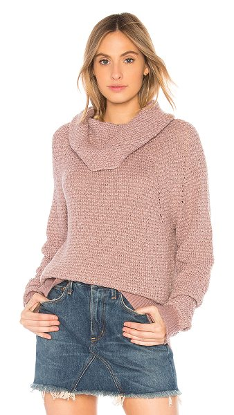 Free People By Your Side Sweater in pink - 58% cotton 12% rayon 6% poly. Hand wash cold. Open knit...