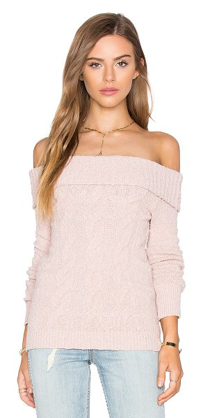 Free People Cable Foldover Top in blush - 99% cotton 1% spandex. Hand wash cold. Ribbed trim....