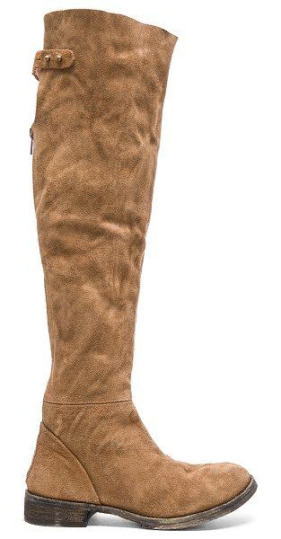 Free People Carlisle tall boot in brown - Suede upper with leather sole. Adjustable back strap....