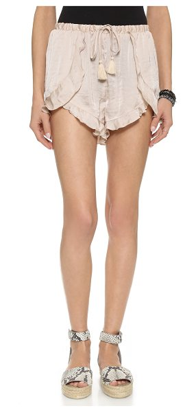 Free People Cascading petal shorts in vanilla - Lightweight Free People shorts, styled with draped...