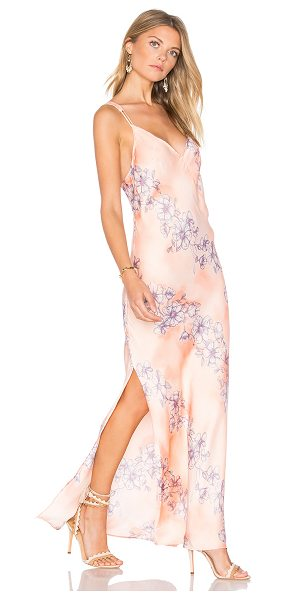 Free People Cassie Girl Slip Dress in pink - Soft florals swirl across the Free People Cassie Girl...