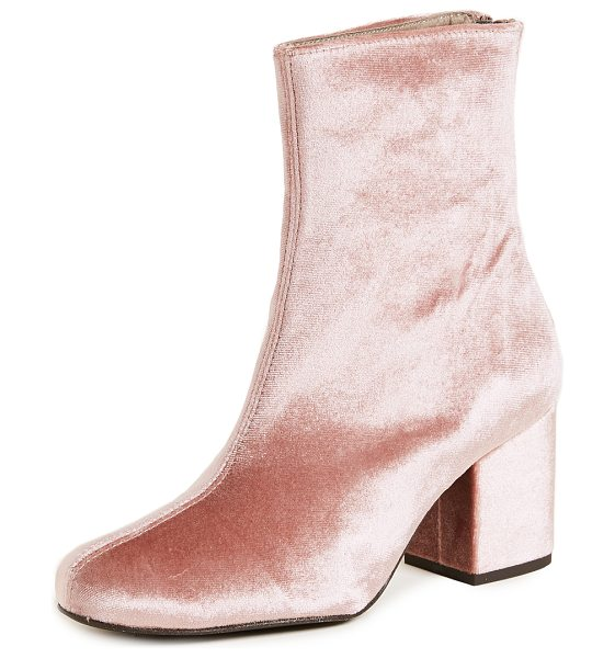 FREE PEOPLE cecile ankle booties - Pale velvet composes these retro-inspired Free People...