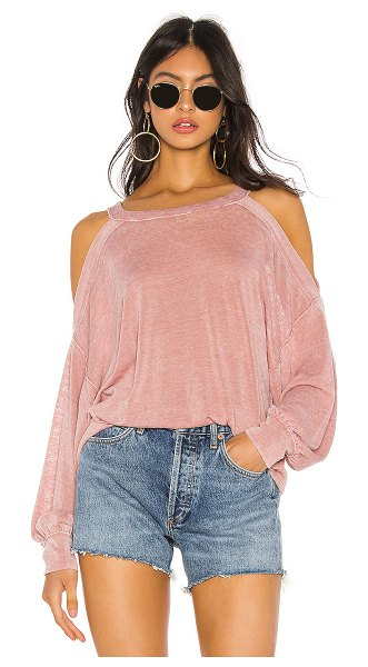 Free People chill out long sleeve tee in pink