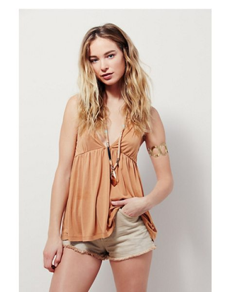 Free People Clara tank in ginger - In a flowy and swingy silhouette and super soft...