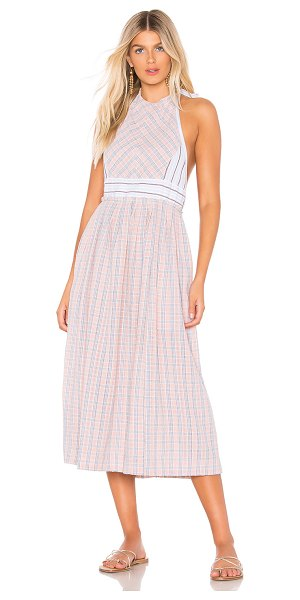 Free People color theory midi dress in pink combo - Free People Color Theory Midi Dress in Pink. - size XS...