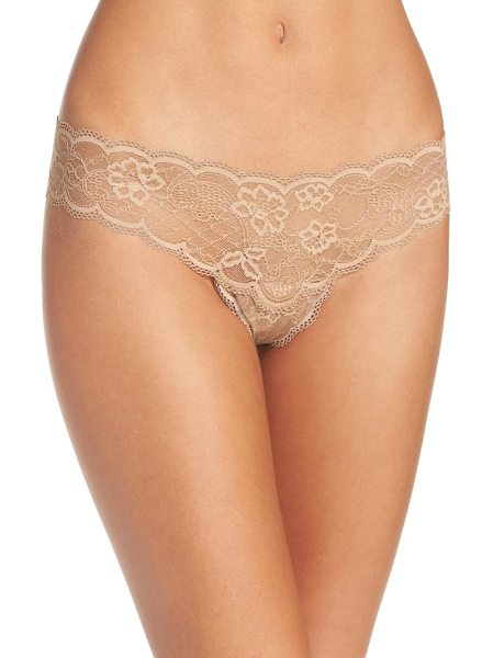 Free People intimately fp come together lace thong in nude - Sweet and simple so you never have to worry about panty lines.