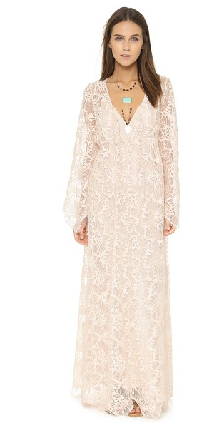 Free People Cool & sensual lace maxi dress in ballet - A voluminous Free People maxi dress with a unique...