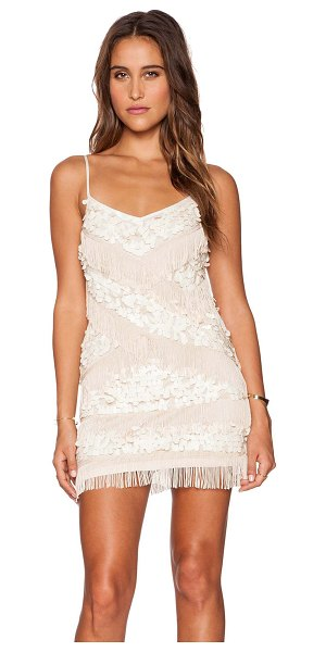 Free People Cosmic crystal dress in beige - Shell: 100% nylonFringe trim: 100% rayonLining: 100%...