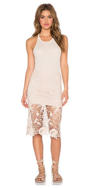 Free People Cotton modal nora tank dress in blush - 50% cotton 50% modal. Partially lined. Back cut-out...