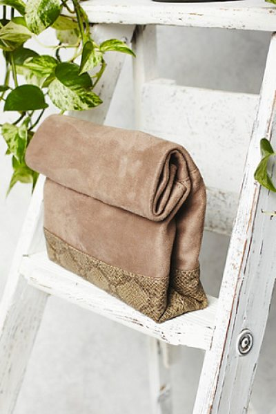 Free People Covet crossbody in taupe / brown