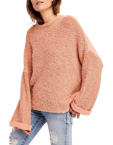 Free People cuddle up pullover in rose - This slouchy and plush pullover is ideal is ideal for...