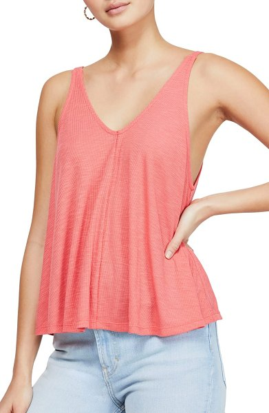 Free People dani swing tank in pink - Simple and swingy, this ribbed tank is sure to be a part...
