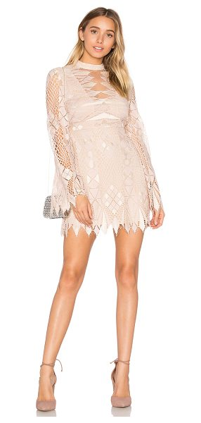 Free People Deco Lace Mini Dress in blush - Shell: 90% nylon 10% polyLining: 100% rayon. Hand wash...