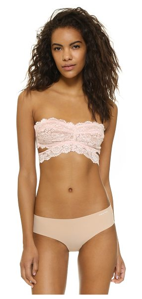 FREE PEOPLE Deep in the dark bandeau in peach blush - Scalloped lace composes this Free People bandeau....