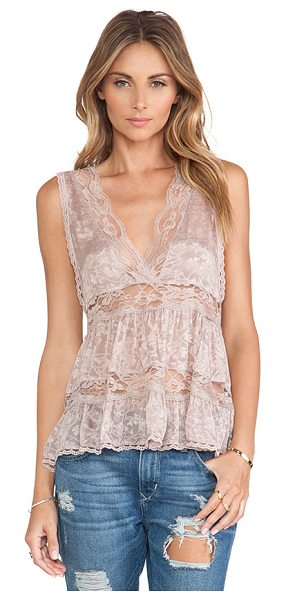 Free People Deep v trapeze cami in blush