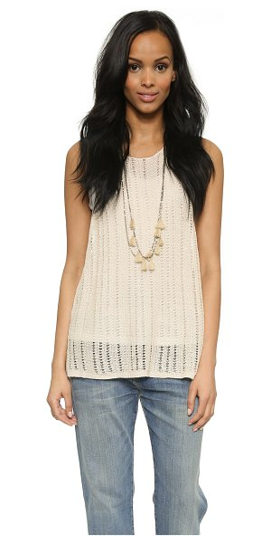 Free People Double take tank in cream - A layered Free People top composed of a loose knit...