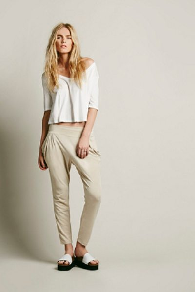 Free People Drapey pocket pant in hemp - Soft and comfy high waisted ankle pants with drapey...