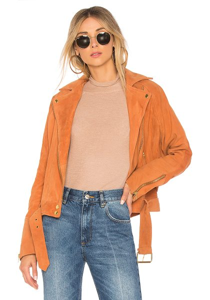 Free People Drapey Suede Moto in brown - Self: 100% goat leatherLining: 100% poly. Professional...
