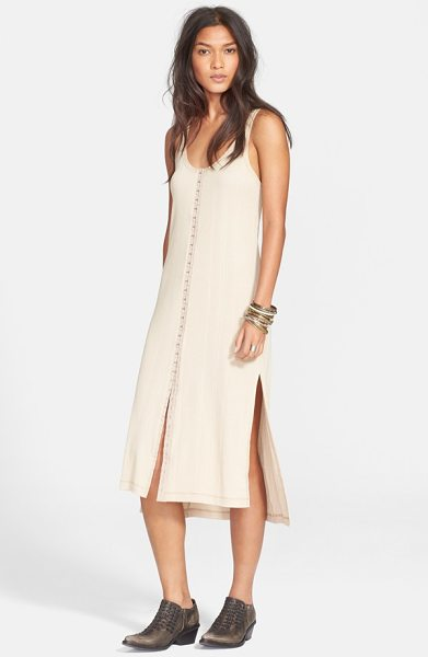 Free People drop needle ribbed tunic dress in oatmeal - A ribbed tunic dress knit from a Peruvian pima cotton...