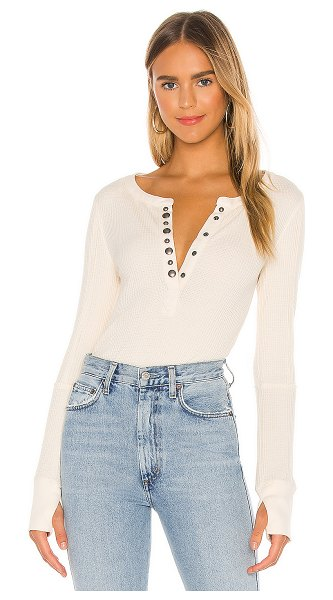 Free People everest henley tee in ecru