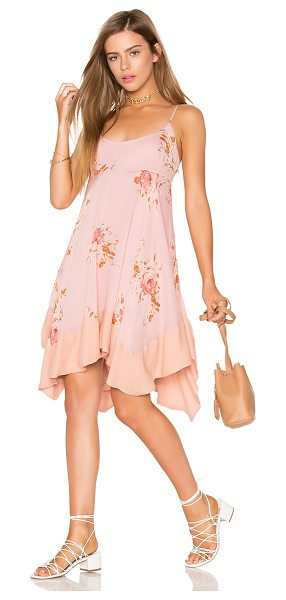 Free People Faded Bloom Mini Dress in pink - Self: 100% viscoseLining: 100% rayon. Hand wash cold....