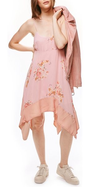 Free People faded bloom swing dress in pink combo - Breezy and feminine, this pretty pink dress has slender...