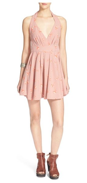 FREE PEOPLE for you floral print fit & flare dress - A vintage-inspired floral print floats across a pleated...