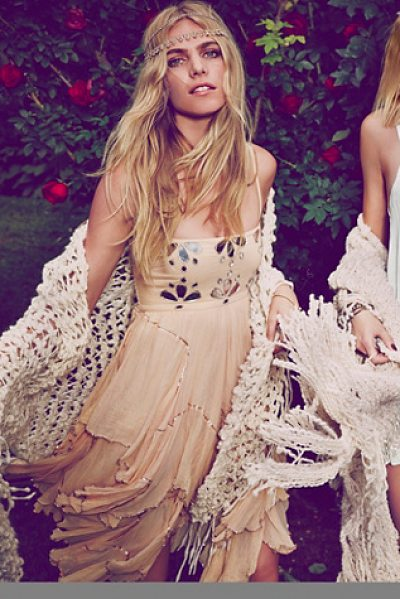 FREE PEOPLE Fp-1 jasmine dress - Princess party dress featuring mirrored accents on the...
