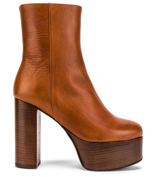 Free People friday night platform boot in taupe