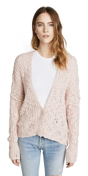 Free People fun times cardigan in rose - Fabric: Loose knit Dropped shoulder seams Waist-length...