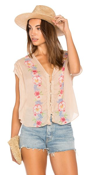 FREE PEOPLE Gardenia Top - Blossoming with painted flowerbuds, the Free People...