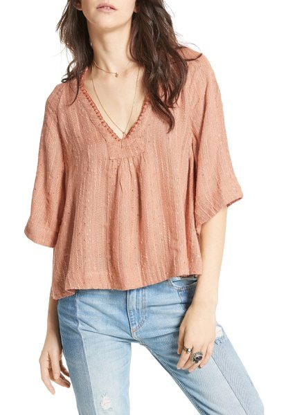 Free People get over it top in peach