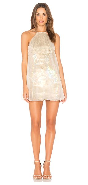 Free People Ghost Mini Dress in metallic gold - Self: 100% nylonLining: 100% rayon. Dry clean only....
