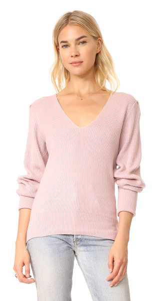 Free People gingersnap tunic sweater in rose - This casual Free People sweater has a double-V neckline...