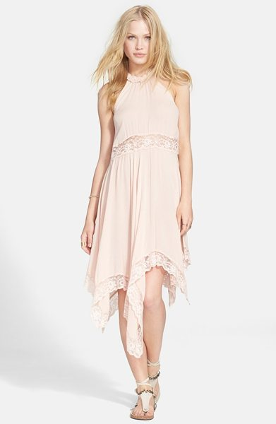 FREE PEOPLE go lightly sheer gauze dress - A high neckline with cutaway shoulders and a swingy...