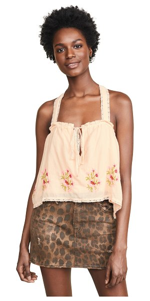 Free People golden hour top in peach combo