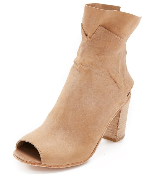FREE PEOPLE Golden road heeled booties - A double layered, slouchy cuff and a heel cutout detail...