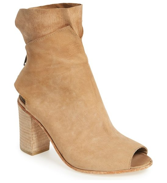 Free People golden road open toe bootie in natural leather - Sumptuously soft leather distinguishes a chic open-toe...