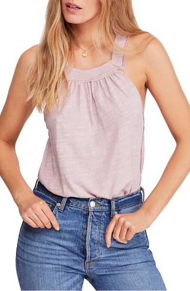 Free People good for you tank in pink - Soft gathers and dramatic low cuts take the tank to a...