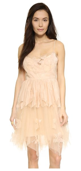 Free People Gossamer dress in pearl - Beaded floral appliqués accent this feminine Free People...