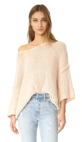 Free People halo pullover in sand - A playfully proportioned Free People sweater with a...