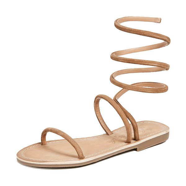 Free People havana gladiator sandals in taupe - Fabric: Suede Leather: Goatskin Wire-structured...