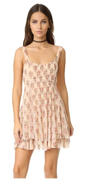 FREE PEOPLE heart it races mini dress - Floral gauze composes this charming Free People mini...
