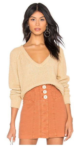 Free People high low v sweater in neutral